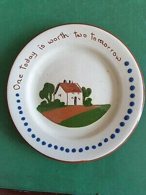 Devon Motto Ware Plate  One Today Is Worth Two Tomorrow  • 2£
