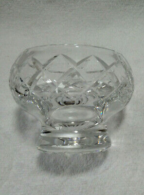 Vintage Crystal / Cut Glass Footed Trinket Bowl / Dish Thumbprint Rim. • 12.25£