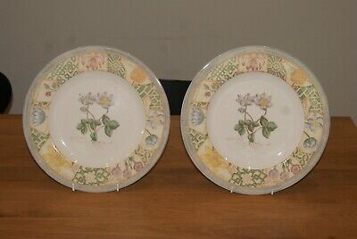 Wedgewood Home Garden Maze Set Of 2 Dinner Plates 10.75 . 3 Sets Available • 18£