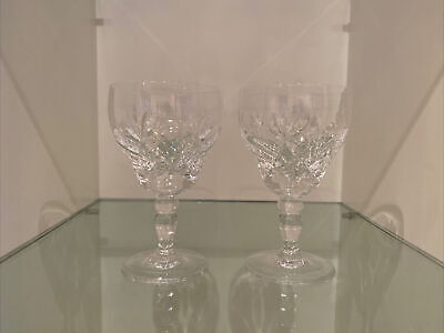 "2 Immaculate Used Royal Brierley Elizabeth Signed 5"" Wine Glasses • 25£"