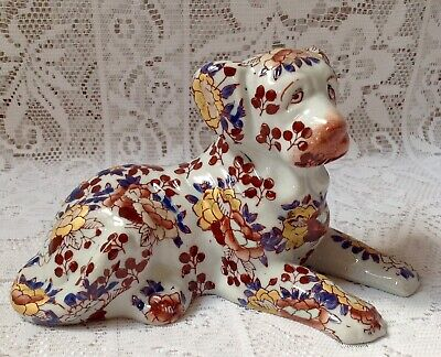 Vintage Hand Painted Imari Dog, Makers Mark To The Base • 30£