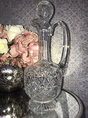 Thomas Webb Vintage Cut Crystal Wellington Decanter With Stopper • 47£