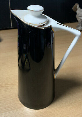 1950s Vacuum Flask The Chiltern Jug By ACME, Glamorgan. Empire Pottery Black Jug • 19.99£