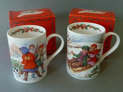2 Ringtons Queens China Christmas Mugs - Boxed  • 20£