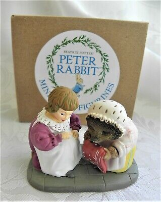 Border Fine Arts ~ Beatrix Potter  ~ Mrs Tiggywinkle & Lucie ~ Miniature ~ New • 7.99£