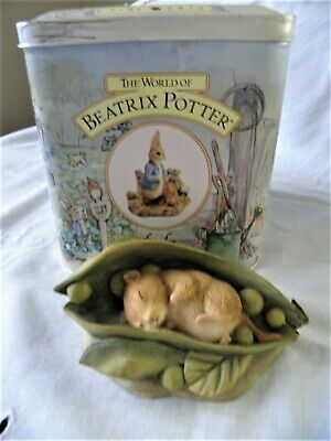 Border Fine Arts ~ Beatrix Potter ~ Timmy Willie Sleeping In A Peapod ~ Bp22 • 19.99£