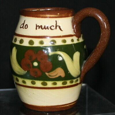 Small Motto Ware Jug - 'Promise Little And Do Much' • 16£