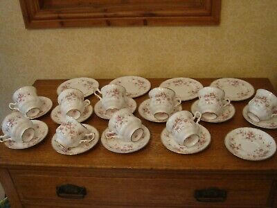 Paragon Victoriana Rose Large Amount Cups Saucers Plates Bone China • 85£