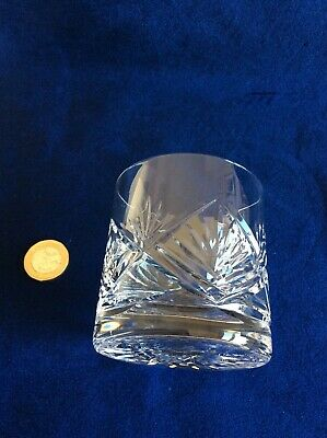 Vintage Tyrone Irish Crystal Whisky Glass As Found O'Neill Pattern Stamped Base • 5£