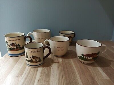 Collection Of Vintage Torbay Pottery Cups • 1.50£