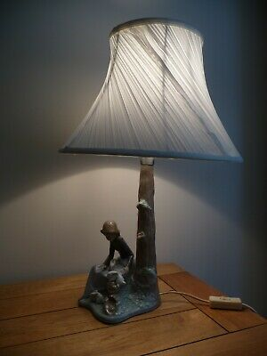 Nao By Lladro  Girl With Rabbits  Table Lamp In Excellent Working Condition. • 74.99£