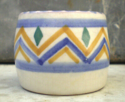 Poole Pottery Geometric Egg Cup With LD Design Painted By Marjorie Cryer C1930's • 12£