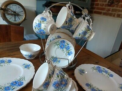 Royal Vale Tea Set Cornflower 28 Pieces  • 85£