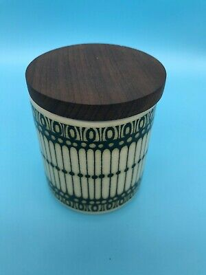 Hornsea Pottery Rare Beaded Vintage Ceramic Pot With A Wooden Lid 1974 • 0.99£