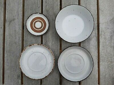 4 Midwinter Stonehenge Pieces Cereal Soup Bowl Two Large Saucers And Trinket • 9.99£