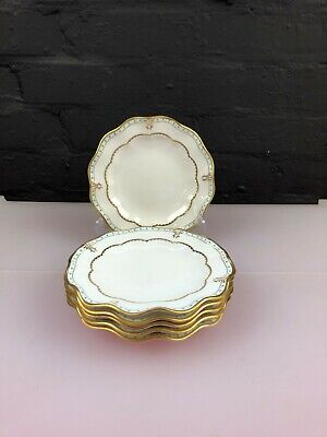 6 X Royal Crown Derby Lombardy Fluted Tea / Side Plates 15.5 Cm Wide Set • 99.99£