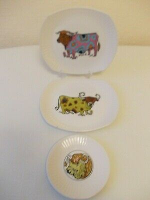 Beefeater Steak And Grill Set 3 Vintage Plates • 34.99£