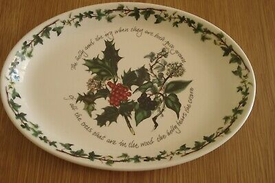 Portmeirion The Holly And The Ivy Christmas Oval Plate Excellent Condition • 9.99£