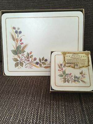 ST MICHAEL MARKS And SPENCER M&S HARVEST SET 6 PLACE MATS & 6 New COASTERS • 15£