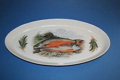 Portmeirion Compleat Angler Tableware-  Large Oval Dish  50cm - Alpine Char • 9.99£