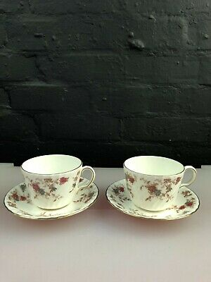 2 X Minton Ancestral Breakfast Cups And Saucers 4 Sets Available RARE • 29.99£