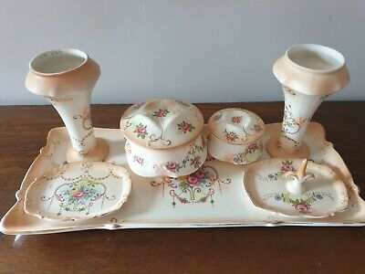 Crown Ducal Ware 7 Piece Dressing Table Set • 12£