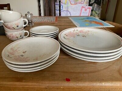 Boots Hedge Rose Starter Set Inc 4 Dinner Plates, 4 Side Plates & 4 Coffee Cups • 10£