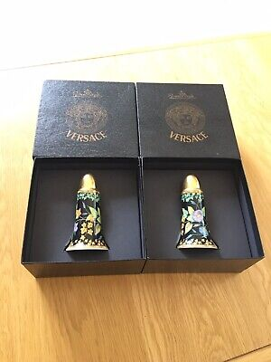 **RARE** Rosenthal VERSACE Gold Ivy Salt & Pepper Shakers Boxed • 95£