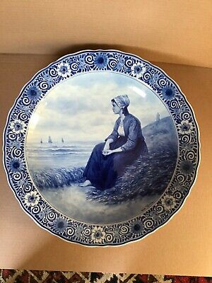 A Large Delft Blue And White 41 Cms Charger By Thooft And Labouchere • 120£