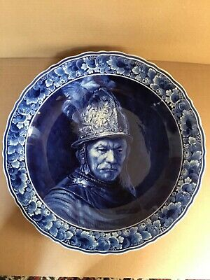 A Large Delft Blue And White 42 Cms Charger By Thooft And Labouchere • 120£