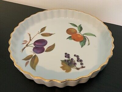 Royal Worcester Oven To Tableware Flan / Pie Dish Evesham • 3.50£