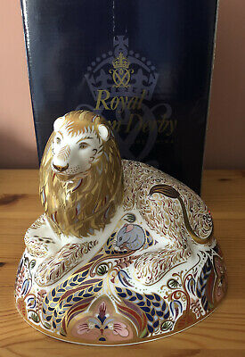 Royal Crown Derby Large Lion Paperweight Signed By John Ablitt & Hugh Gibson • 225£