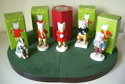 Beswick Rupert Bear & Friends Full Set Of 5 Figures All Mint Condition &,boxed.  • 250£