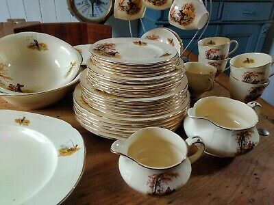 Alfred Meakin Country Life Dinner / Tea Set 42 Pieces • 100£