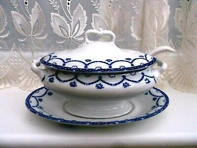 Antique Booths Lidded Tureen **cheltenham ** Design With Ladle • 10£