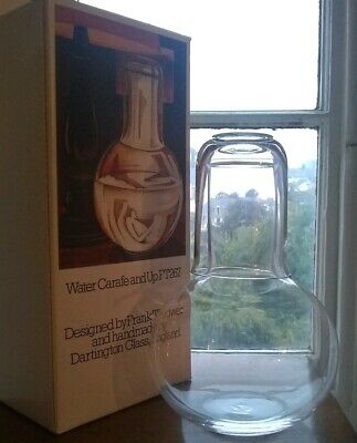 Dartington Glass Lecture Carafe And Up FT 267 Boxed  Frank Thrower 80s Vintage • 28£