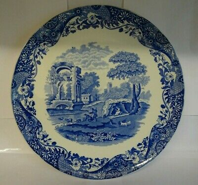 Vintage Copeland Spode Italian Blue & White Printed Wall Charger Dated 1926. • 49.99£