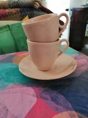Grindley  Pink Espesso Cup X2  Only One Saucer • 5.75£