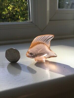 Lalique France Angle fish Mint Condition Great Signed On Back • 62£