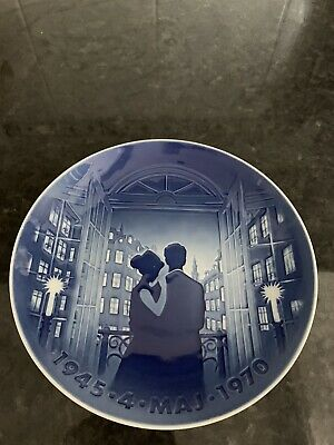Bing And Grondahl  Jubilee Plate May 1945 - 1970 • 55£
