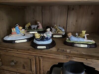 Set Of 5 Limited Edition Royal Doulton Winnie The Pooh Figurines All With Certs • 115£