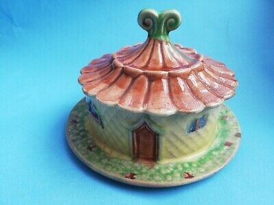 Lovely Vintage Shorter & Sons Cottage Butter Dish Hand Painted 1920-1939  • 3.99£