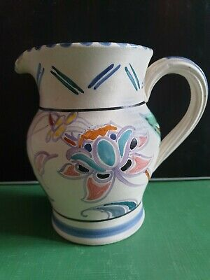 Honiton Pottery Large Milk Jug - Trial Piece Hand Painted • 10£
