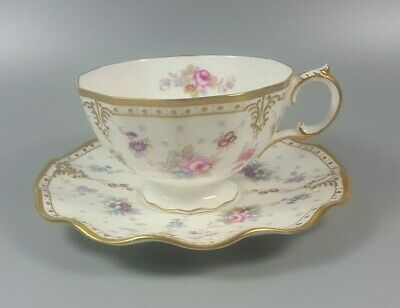 Royal Crown Derby Antoinette? (no Pattern Name) Tea Cup And Saucer • 64.99£