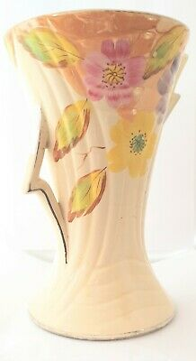 Large Art Decco Cream Vase By Arthur Wood Flowers  • 6.90£