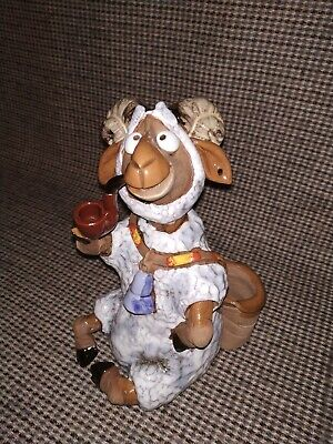 Unusual Handmade Goat Smoking A Pipe . Signed  Z . • 15£