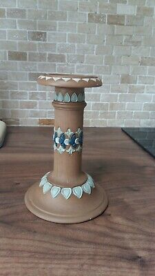 Antique Royal Doulton Pottery Silicon Single Candle Stick Holder • 5£