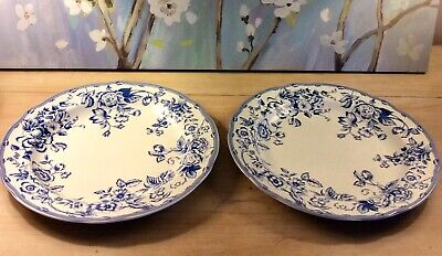 Spode Clifton Dinner Plate White Blue Floral Made In England X 2 • 35£