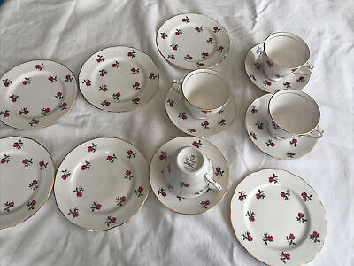 Vintage Bone China Colclough Rose Tea Set • 8.50£