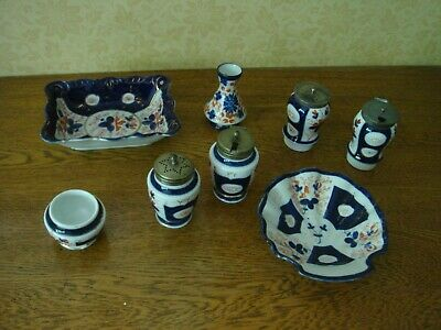 Antique Gaudy Welsh Cruet Sets Dishes Bowl Vase Etc Assorted Items Collection • 35£
